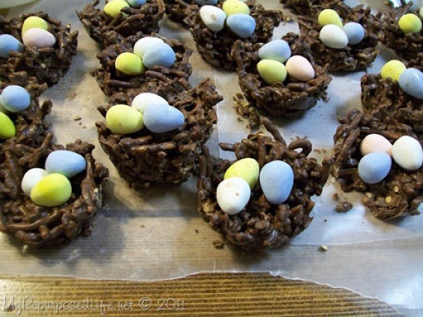 chocolate bird nests cadbury eggs