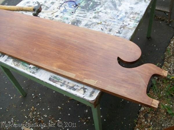old headboard
