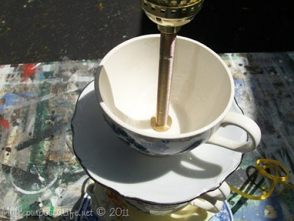how to teapot lamp MyRepurposedLife.com