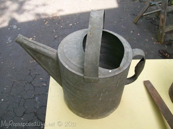 repurposed vintage watering can