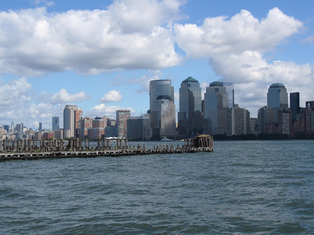 View of Manhatten from the Ellis Island ferry