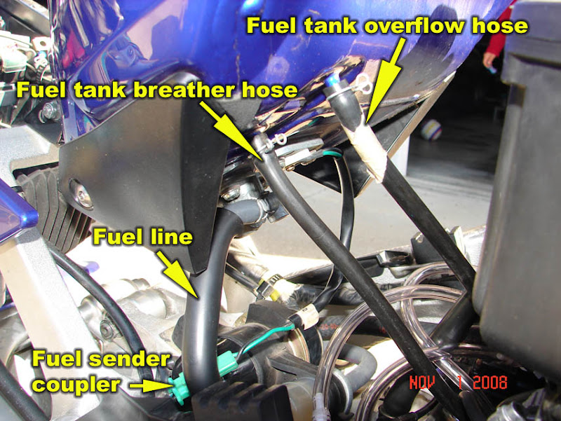 2006 Yamaha Fzr Wiring Diagram How To 98 01 R1 Remove Fuel Tank Airbox Carburetors And