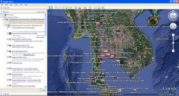 Thailand Map Google Earth