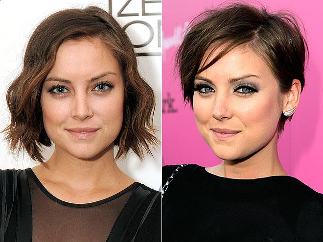 Jessica Stroup's new pixie haircut 2011