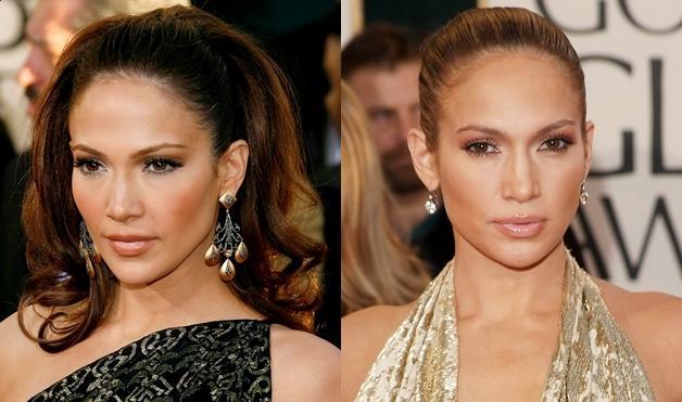Jennifer Lopez's messy hairstyle