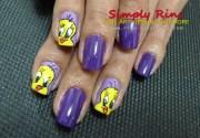 nail art tweety bird simply