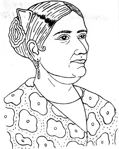 Josefa Ortiz de Domínguez coloring page