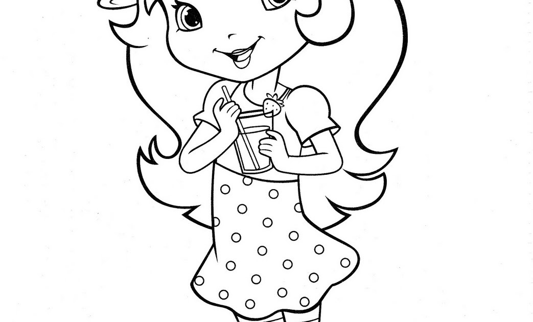 Strawberry Shortcake With A Coke Coloring Pages