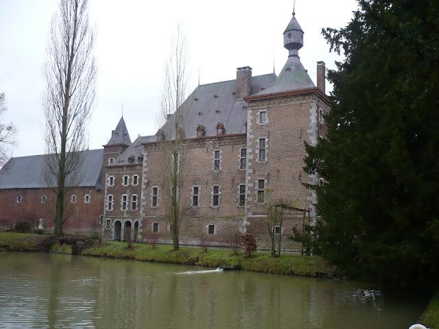 zicht op het kasteel