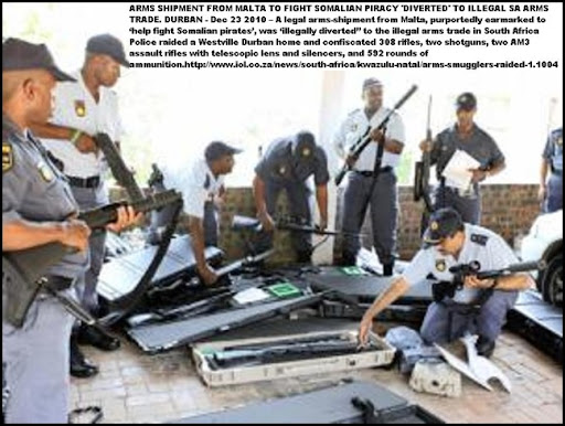 ARMS FOR SOMALIA DIVERTED BY SMUGGLERS IN SOUTH AFRICA RAID DEC242010