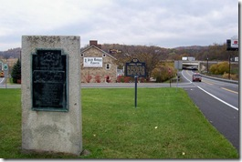 Older Forbes Road Monument with the marker