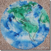 Coffee Filter Earth at A Teaching Mommy