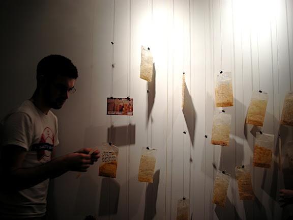 Joe Garrad puts up his tea bag reflection