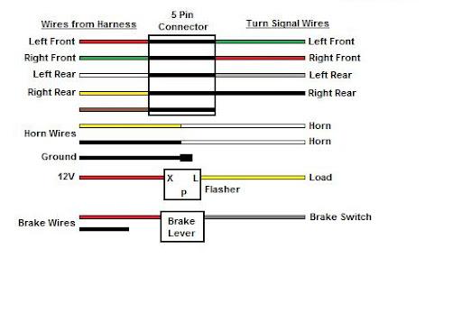 club car precedent horn wiring diagram for 4 pin round trailer plug a 8 wire turn signal w/