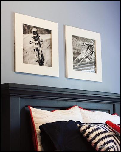 Black & White Photos in 20x20 White Frames