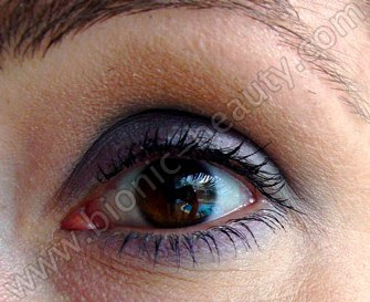 Bionic Beauty face of the day look with Purely Cosmetics eyeshadows