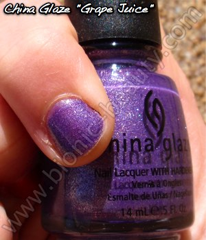 China Glaze Summer Days 2009 nail polish in Grape Juice