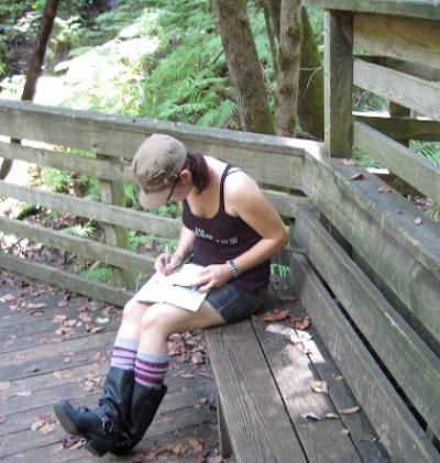 Bionic Beauty at Devil's Millhopper park - Moleskine journals
