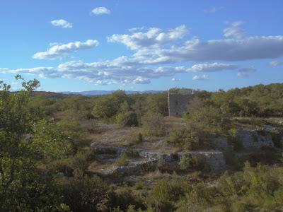 dans le bois de Paiolive, une ruine