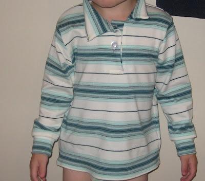 Aqua striped shirt