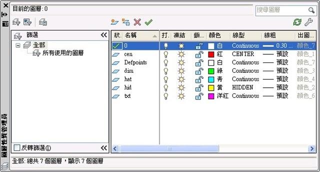 電腦學習園地: AutoCAD 2010 2D 圖層