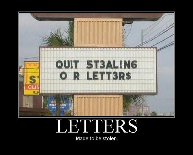 letters  motivational poster