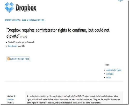Dropbox - rights