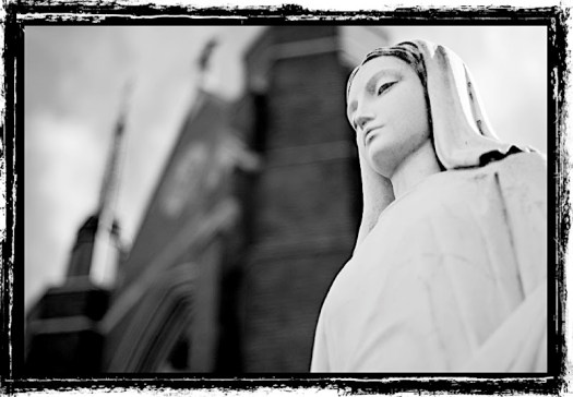 Statue of Mary, Mother of Jesus, from a church in Jamaica Plain, MA.