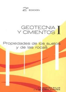 Portada del Tomo I del Geotecnia y Cimientos, de J. A. Jiménez Salas
