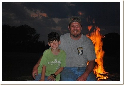PJ and Daddy by fire
