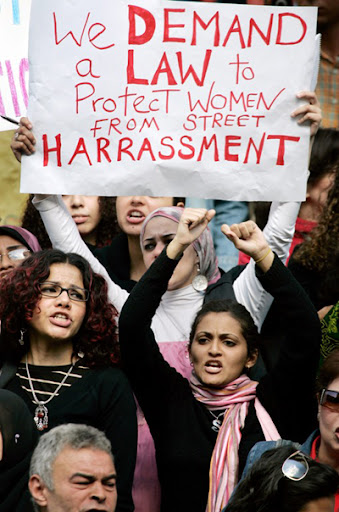 Women protest in Egypt. BRImage from International Museum of Women