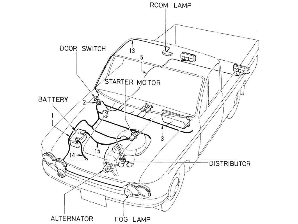 Datsun Pickup 521 Wiring (L16)