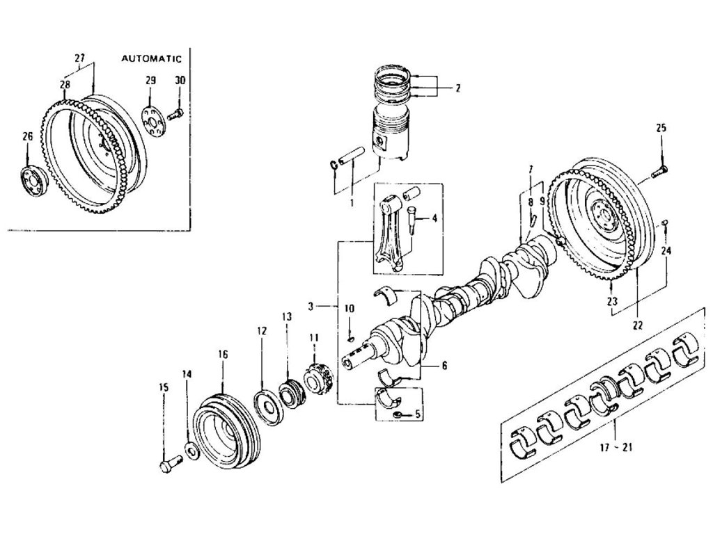Datsun 240z 260z Piston Crankshaft Amp Connecting Rod L24