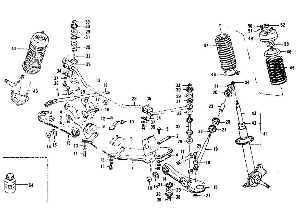 Datsun 240Z/260Z/280Z Front Suspension (Strut & Shock