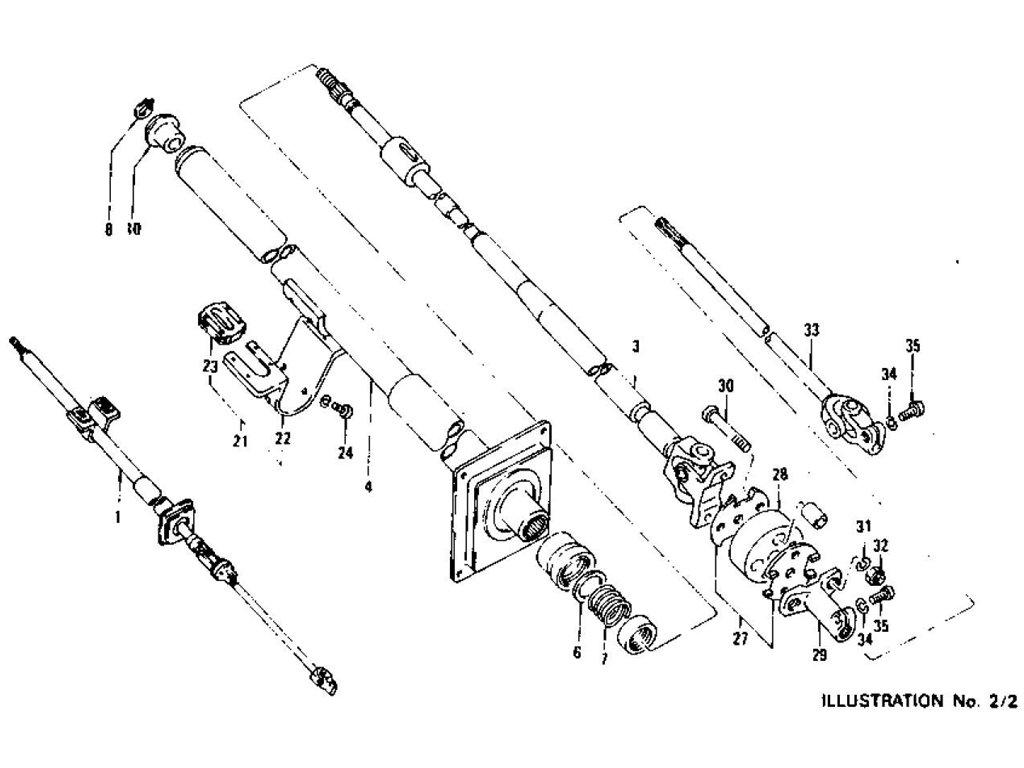 Datsun 240Z/260Z/280Z Steering Column (Collapsible Type)