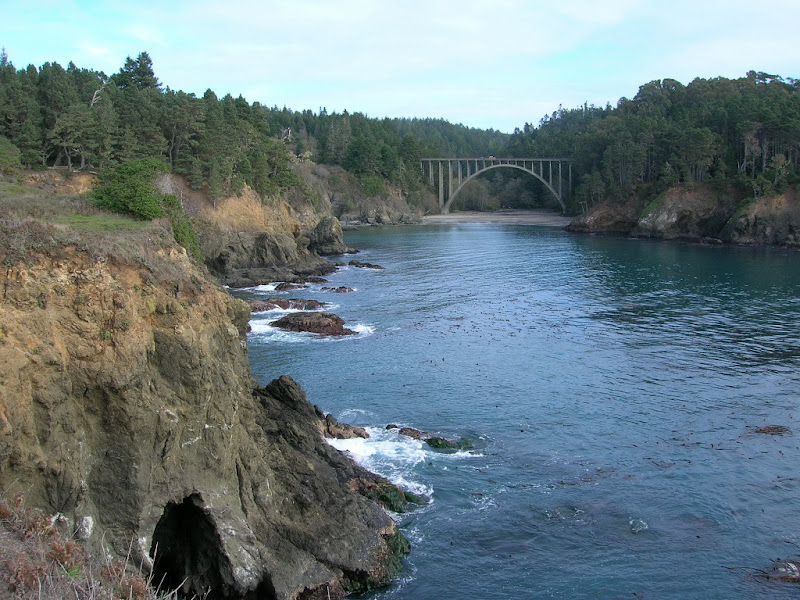 Famous Hwy 1 bridge crossing Russian Gulch