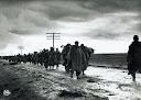Guerra vivil española del 36. Tropas republicanas en retirada.