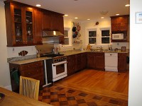 Show me your Stained Wood Cabinets with Wood Floors