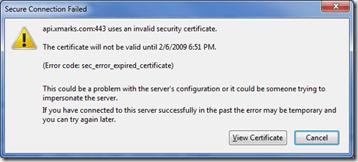 SecureConnectionFailed