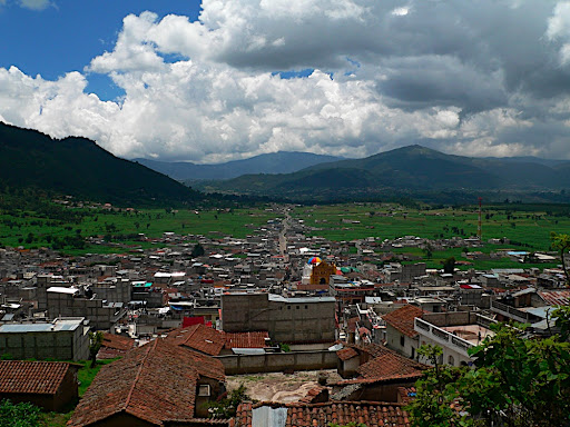 The view from the second church over San Andres Xecun