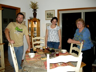 dinner guests are always fun especially when they do the cooking!