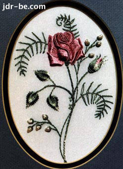 Rose in Brazilian embroidery