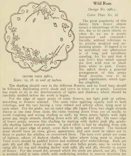 excerpt of wild rose description