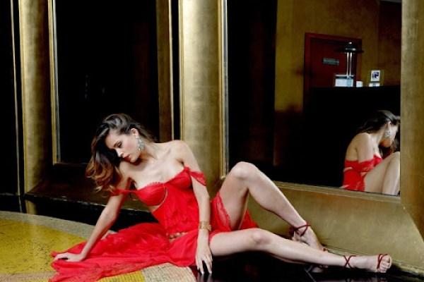 Petra Nemcova red dress 6