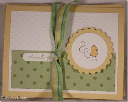 baby pail thank you card bundle tied
