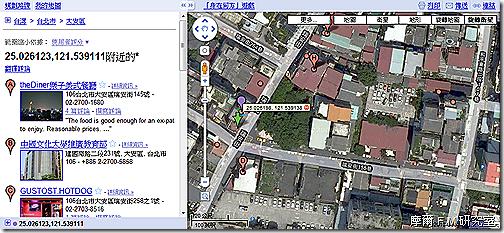 運用旋轉衛星地圖來查詢全家門市詳細位置 | 摩爾 F.M. 研究室