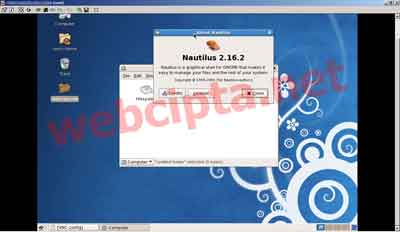 Preview tampilan remote desktop VPS Centos