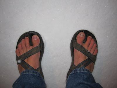 Sandals - meet snow