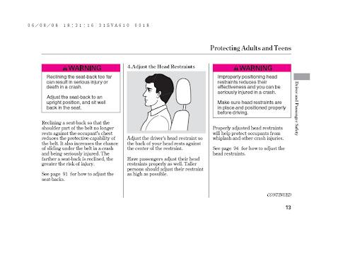 مدونة هوندا موتور: دليل المستخدم لسيارة هوندا سيفك 2007