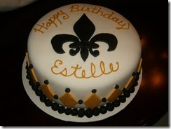 Grace In The Home Fleur De Lis Cake